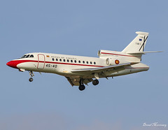 Spanish Air Force Falcon 900 T.18-1 (45-40) (birrlad) Tags: brussels bru international airport belgium aircraft aviation airplane airplanes vip government state jet bizjet private passenger arrival arriving approach finals landing runway airforce military asem eu summit meeting t181 dassault breguet falcon 900 f900 4540 fuerzaaereaespanola airmil spain spanish pedrosánchez primeminister