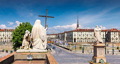 _MG_4436 - Ponte Vittorio Emanuele I, Torino (AlexDROP) Tags: 2018 italy europe piedmont torino turin art travel color city cityscape statue canon6d ef16354lis best iconic famous mustsee picturesque postcard