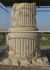 Susa (Shush), Darius's Palace, Apadana Column (2).JPG (tobeytravels) Tags: sus susan elamite seleucid parthian sasanian zagros shushan jacquesdemorgan rawlinson neolithic ubaid uruk banesh sargon akkadian kutikinshushinak awan neoassyrians layard achaemenid cyrus cambyses alexanderthegreat