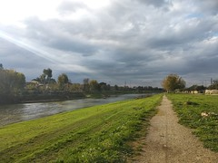 Arno River (Alexanyan) Tags: green park arno river weather italian italy italia europe firenze florence italien tuscany cloudy overcast