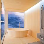 木製浴槽の写真