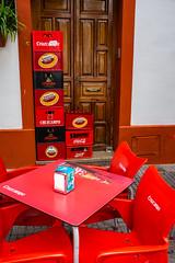(::ErWin) Tags: córdoba spanien es andalucia andalusia red rot tür door spain cruzcampo beer bier