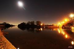 Hampton Court Bridge 2 (psychosteve-2) Tags: hampton court bridge long time exposure reflection thames night