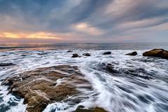 Wild Pacific Ocean coast at San Diego, California (Sarjen) Tags: sea costal coast wave pacificocean pacific sunset