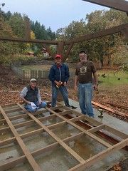 Lonni, Don & Glen building Gazebo for youth drop in center