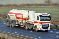 AY68 TJX (panmanstan) Tags: daf xf wagon truck lorry commercial bulk tanker freight transport haulage vehicle m62 motorway sandholme yorkshire