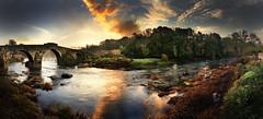 Pontemaceira (Noel F.) Tags: galicia galiza sony a7r a7rii ii fe 24105 panorama pontemaceira negreira rio tambre sunrise mencer