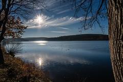 upstream temporary dam (Stefan A. Schmidt) Tags: stockum reservoir