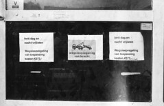 €373 wegsleepregeling (Arne Kuilman) Tags: nikon fe2 ilford hp5 pushed 2stops iso1600 id11 homedeveloped 1430minutes developer film analogue slr nederland netherlands believeinfilm noparking fine notice boete nietparkeren