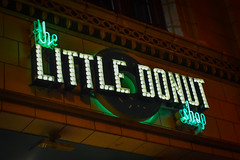 Little Donut (tim.perdue) Tags: little donut shop neon light letters green osu campus ohio state university columbus north high street nikon d5600 nikkor 18140mm