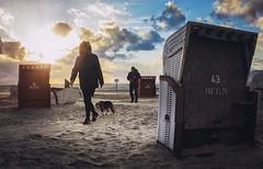 cold Beach (ThorstenKoch) Tags: street streetphotography schatten stadt shadow beach cold candit dog sand winter wind northsea clouds sun sunset pov thorstenkoch fuji fujifilm people