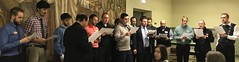 "Seminarians and faculty sing ""Jesu Redemptor"" for guests at the Seminary Auxiliary, December 11, 2018."