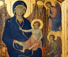 Duccio, Rucellai Madonna, detail with Christ Child