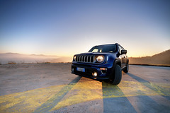 Off road sunset... (gube89) Tags: jeep jeepofficial renegade offroad fuoristrada italy pavia fortunago hill sky goldenhour top