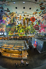 Netherlands - Rotterdam - Markthal interior 03_fisheye_DSC8829 (Darrell Godliman) Tags: netherlandsrotterdammarkthalinterior03fisheyedsc8829 mvrdv markthal rotterdam netherlands holland interior design architecture modernarchitecture contemporaryarchitecture europe 8mm samyang fisheye