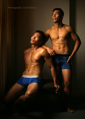 IMG_5454h (Defever Photography) Tags: pinoy male model philippines portrait malemodel asia chest muscular fit 6pack sixpack muscled boxers underwear duo duoshoot