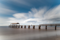 Waimea Pier  DSC_9897- (BlueberryAsh) Tags: kauai popui waimeapier waimea pier jetty longexposure 15stopper water ocean beach hawaii clouds sky nikond750 nikon24120 filters person outdoor seascape holiday