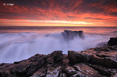 Tidal Surge (carmellestewarthook) Tags: craster sunrise black hole northumberland seascape lee rocks stewarthook