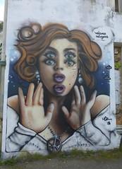 Graff: Hoz: rue de Brest à Quimper (11/04/2018) (EricFromPlab) Tags: hoz graff graffiti tag tags street art urban wall mural streetart bretagne finistère breizh brittany quimper