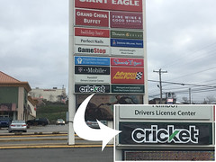 Cricket Wireless (Sir Speedy Pittsburgh) Tags: panel marquee panels outside outdoors outdoor exterior exteriors big large sign signage print printer printers prints printing cricket wireless black green
