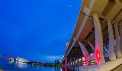 Helix Bridge 08 (richardbright81) Tags: canon eos 60d samyang fisheye lens blue hour singapore marina bay