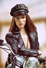 Harley 5 (Mr Action Figure) Tags: 16scale phicen tbleague seamless seamlessfigure female femalefigure brunette harleydavidson motorcycle bike leather brooklyn chopper hat sexy boots chrome hottoys verycooltoys doll toy jamesdean leatherjacket