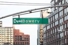 David Bowery Tribute (agent j loves nyc) Tags: ripdavidbowie davidbowery davidbowie streetsign nyc newyorkcity