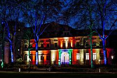 Villa Kunterbunt (JB Fotofan) Tags: blauestunde building gebäude fz1000 lumix lights licht bunt colorful nacht nightshot winterlichter palmengarten frankfurt