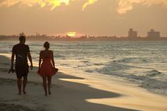 Sunset Walk-2 (Pavlo Kuzyk) Tags: ocean beach couple man woman walking sun canon
