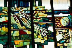 Beauty in Decay (jip_and_elsewhere) Tags: chernobyl pripyat stained glass stainedglass light colours prypiat