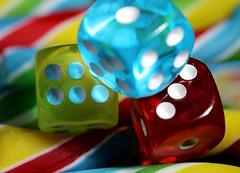 """La chance a tourné, Lucky Shot (francepar95) Tags: macromondays""""and""""dotsandstripes"""" macro challenge week theme dices candy dés bonbons hmm"""