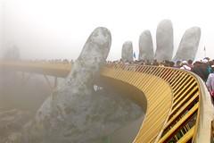 Hands of God (adamsgc1) Tags: fog foggy cloud handsofgod handsofgodbridge cauvang goldenbridge banahills vietnam danang bridge