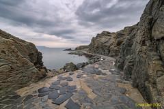 El Port de la Selva. (Ernest Bech) Tags: catalunya girona costabrava altempordà portdelaselva mar sea rocks roques landscape longexposure llargaexposició llums lights