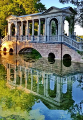 The Marble Bridge (akovt) Tags: saintpetersburg russia россия санктпетербург ruins bridge pushkin reflection water park