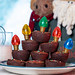 Brownies with Christmas Light Decorations