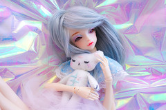 I'll protect you ♥ (Pliash) Tags: doll cute kawaii bjd girl magical unicorn unicornio alpaca lhama bambi cervo bear teddy crybaby felt plushie artesanato handmade animals animal sleepy
