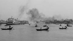 River and Life (Shourav Sheikh) Tags: sadarghat dhakabangladesh bnw blackandwhite river boat boatman life