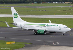 Germania 737-700 D-AGEQ (birrlad) Tags: dusseldorf dus international airport germany aircraft aviation airplane airplanes airline airliner airways airlines taxi taxiway takeoff departing departure runway germania boeing b737 737700 737375b dageq