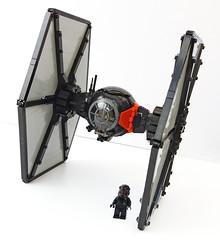 Tie Fighter plus pilot (Rubblemaker) Tags: star wars starwars lego building blocks first order tie fighter
