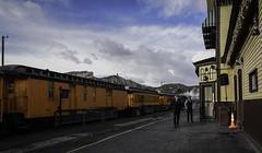At the Durango-Silverton Railroad station (kfpsardou) Tags: atthestation 118picturesin2018