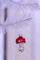 My Christmas (haberlea) Tags: home toadstool glass ornament decorations mushroom christmas white red