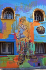 Urban art (carlos_ar2000) Tags: calle street arte art color colour graffiti pared muro wall edificio building ventana window fachada facade buenosaires argentina