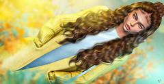 Belle (meriluu17) Tags: belleepoque sintiklia lelutka glamaffair teal yellow pastel people portrait sweet girl baby cute curly waves