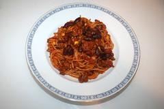 01 - Chili con Carne Spaghetti - Serviert / Served (JaBB) Tags: spaghetti kidneybeans kidneybohnen mais corn hackfleisch groundmeat tomaten tomatoes noodles nudeln pasta food lunch essen nahrung nahrungsmittel mittagessen kochen cooking