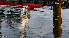 """""""Seaspan Foam"""" reflections on water. (SpyderMarley) Tags: water reflections tugboat """"ogden point"""" victoria nikon abstract"""