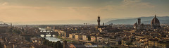 Florence panoramic view (David Pulido Gallego) Tags: florence firenze florencia duomo catedral cathedral tower torre towers torres skyline sky cielo dawn atardecer turismo city ciudad archit architecture arqui arquitectura panorama panoramic panoramica davidpulido pulido