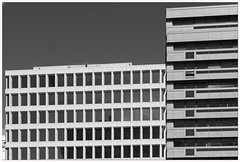 Gymnastics Accountability Office (Rex Block) Tags: gymnasticsaccountabilityoffice nikon d750 dslr 50mm f18g building faade brutalist faceless imposing cold windows offices concrete monochrome bw