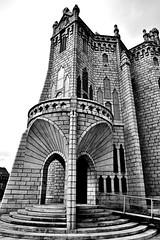 "gaudi""s episcopal palace astorga (hmong135) Tags: astorga gaudi spain architecture episcopal church cathedral europe bw palace"