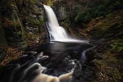 Hiking Bushkill Falls today! Beautiful fall morning. (jeffreywalmsley) Tags: canon5dmarkiv longexposure delawarewatergap pennsylvania bushkillfalls nature foliage fall hiking waterfall