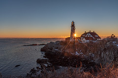 Sunrise (rajivkrishnan90) Tags: portland maine usa new england sunrise lighthouse nikon golden hour